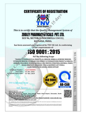 Zodley Pharma Pvt Ltd - ISO Cert - Daksh Pharma