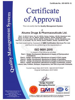 Ambic Ayurchem DL Lic. 1 (Renew) - Daksh Pharma